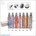 Upgraded Embossed eGo Q 1600mAh Battery (Constant Voltage: 3.7v)