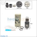 New ! Tobeco Doge V3 Black Rebuildable Dripping Atomizer (Clone)