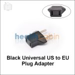Black Universal US to EU Plug Adapter