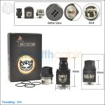 New ! Tobeco Hellboy Black Rebuildable Dripping Atomizer (Clone)