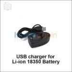 USB charger for Li-ion 18350 Battery