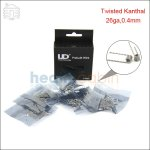 New ! 50pc UD Double Twisted Kanthal Prebuilt Coil (26ga,0.4mm)
