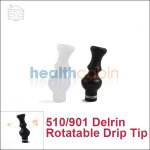 Delrin Rotatable Drip Tip for 510/901 (360° Rotation)