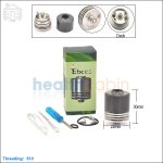 New ! Tobeco Mina Black Rebuildable Dripping Atomizer (Clone)
