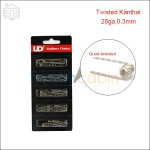 New ! 50pc UD Quad Twisted Kanthal Prebuilt Coil (30ga,0.25mm)