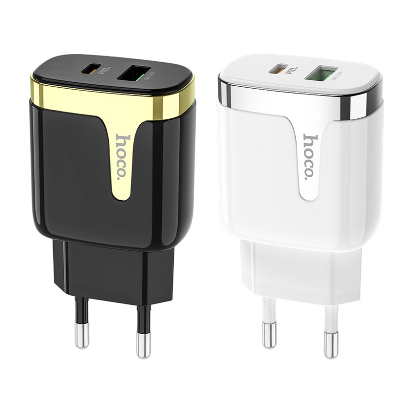 HOCO C79A Zeus PD+QC3.0 Fast Charger For 7/7 Plus/6S/6S Plus/6 Plus/6/SE (2020)/ 11/ 11Pro/11ProMax/XsMax,/XR/ XS/X/8/8 Plus/ AirPods/Ipad/Samsung/LG/HTC/Huawei/Moto/xiao MI and More