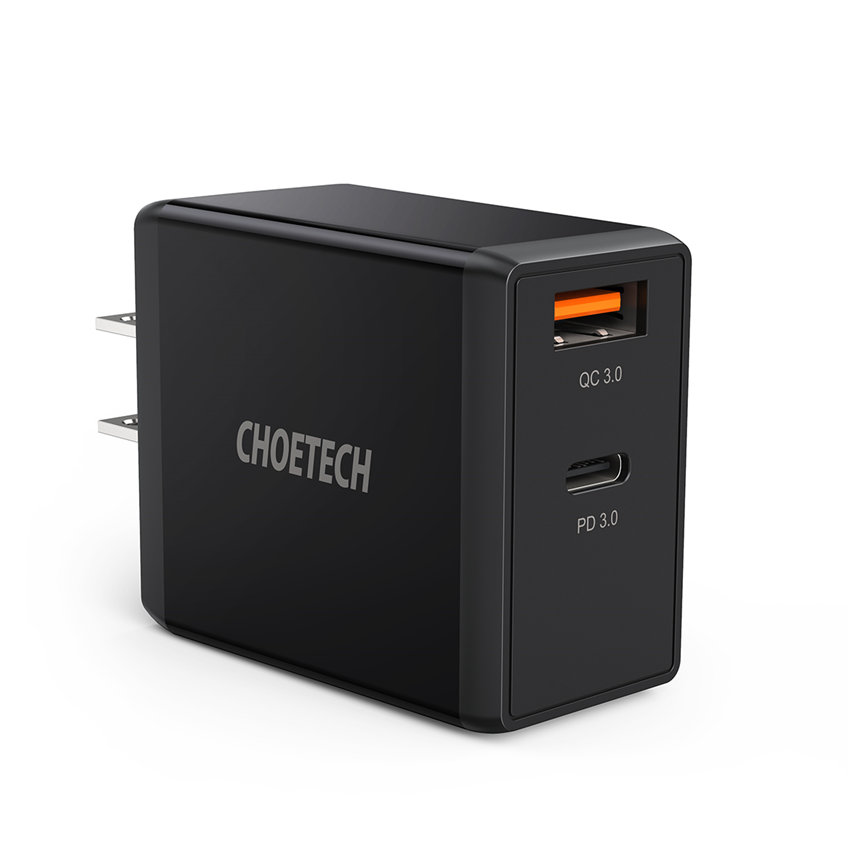 CHOETECH PD5001 PD 65W GaN Charger Fast Charging For 7/7 Plus/6S/6S Plus/6 Plus/6/SE (2020)/ 11/ 11Pro/11ProMax/XsMax,/XR/ XS/X/8/8 Plus/ AirPods/Ipad/MacBook/Samsung/LG/HTC/Huawei/Moto/xiao MI and More