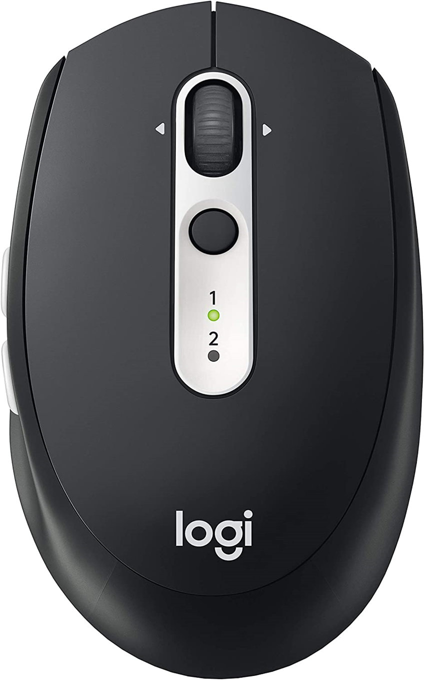 Logitech M585 Multi-Device Wireless Mouse – Control and Move Text/Images/Files Between 2 Windows and Apple Mac Computers and Laptops with Bluetooth