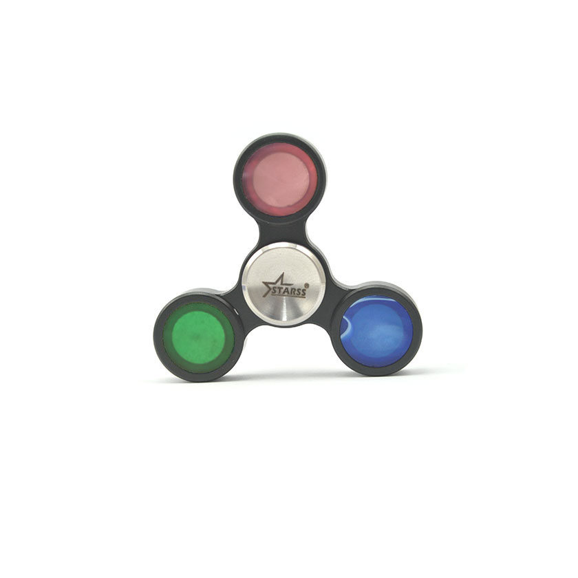 Starss Tri Bar Hand Spinner Fidget Toy Black