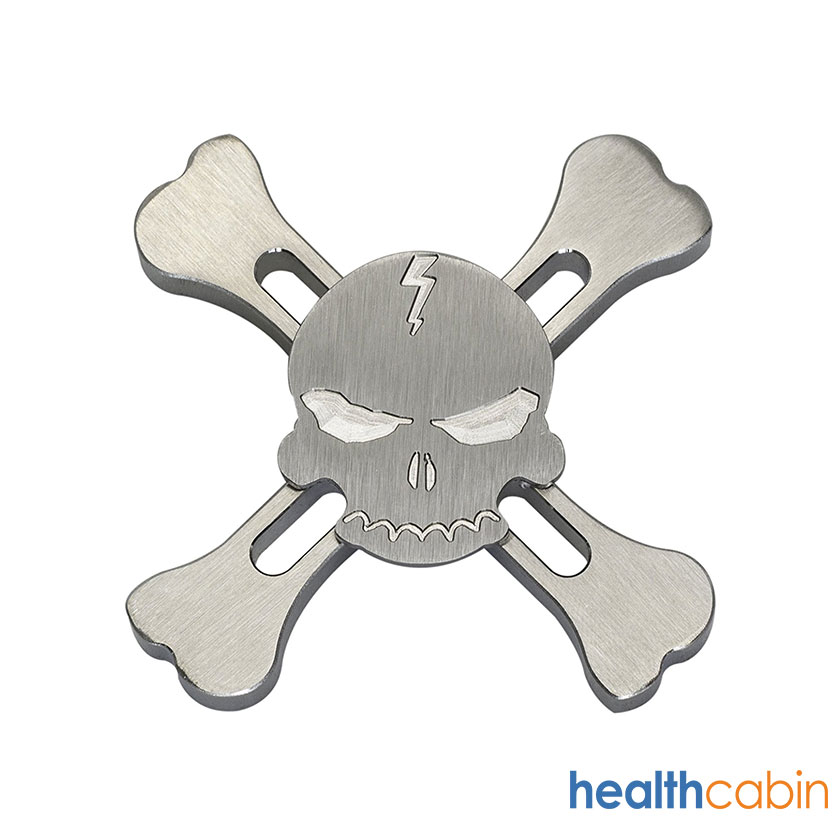 Hand Spinner Fidget Toy Relieves Anxiety and Boredom Skull, stainless
