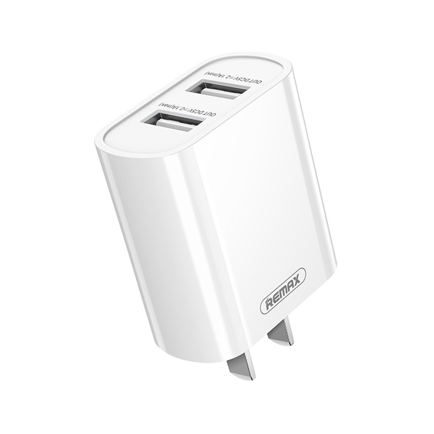 REMAX RP-U35 Jane Series 2.1A Dual USB Fast Charging Adapter Set Fast Charging For 7/7 Plus/6S/6S Plus/6 Plus/6/SE (2020)/ 11/ 11Pro/11ProMax/XsMax,/XR/ XS/X/8/8 Plus/ AirPods/Ipad/Samsung/LG/HTC/Huawei/Moto/xiao MI and More (White)