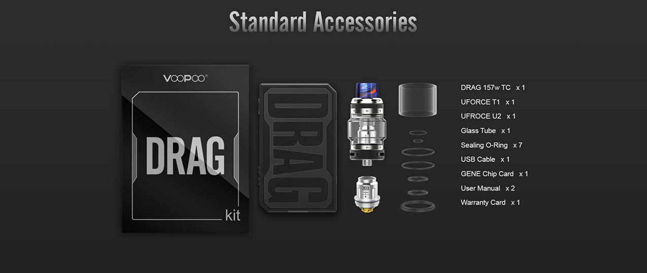 VOOPOO Black Drag 157W Mod Kit