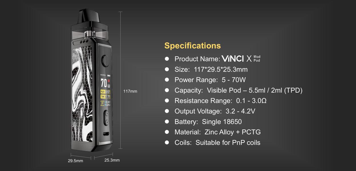 Voopoo VINCI X pnp Kit