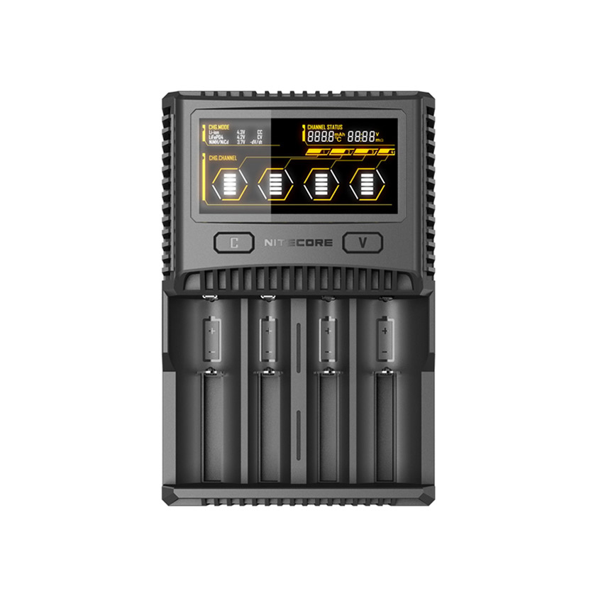 Nitecore SC4 6A Quick Charge Intelligent Battery Charger AU Plug