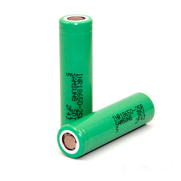 Samsung INR18650 25R 2500mAh 35A Flat Top Li ion Rechargeable Battery (Please contact our sales for special shipping arrangement)