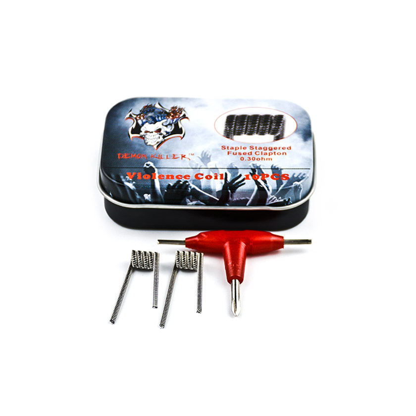 10pcs Demon Killer Staple Staggered Fused Prebuilt Coil