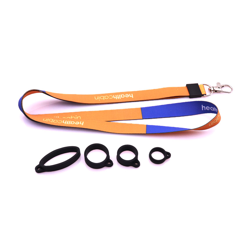 Lanyard with Healthcabin Logo Come with 4 Silicon Rubber Rings