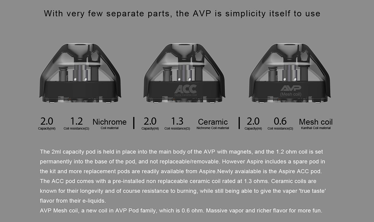 Aspire AVP Pod Cartridge