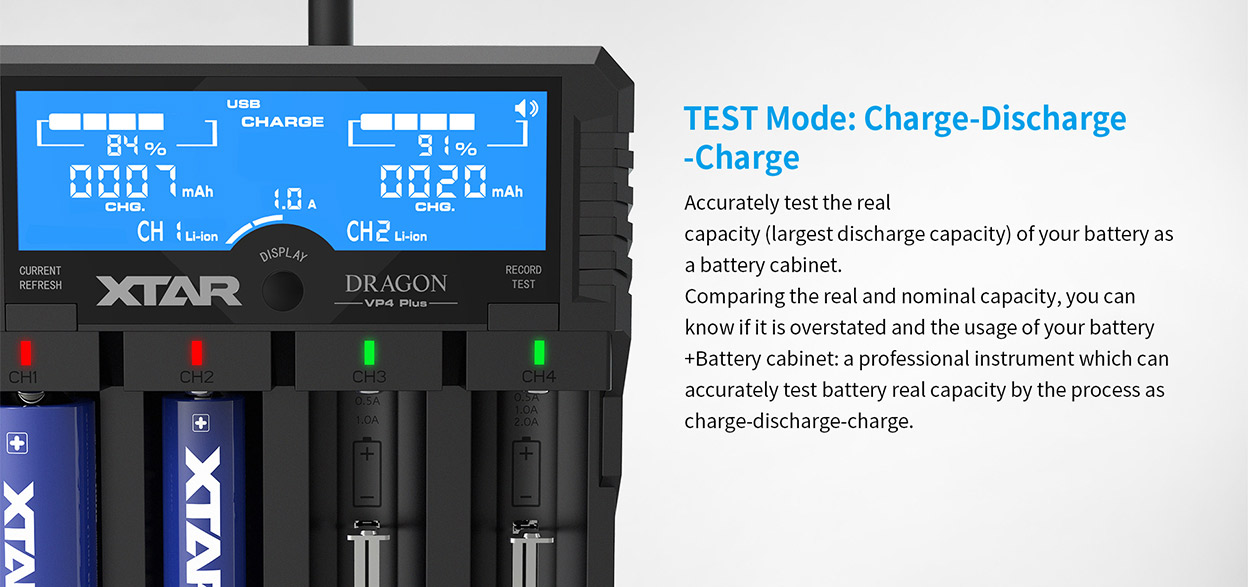 XTAR Dragon VP4 Plus Charger