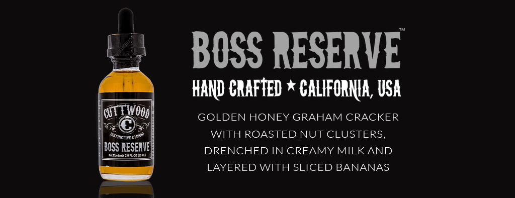 Cuttwood Boss Reserve Ejuice eliquid