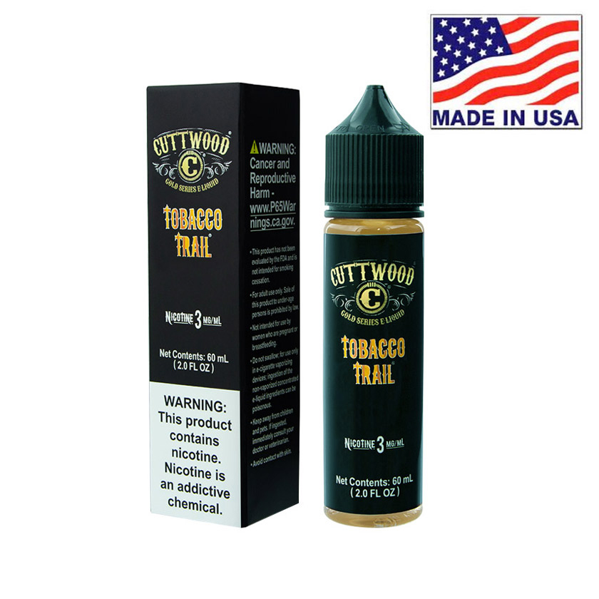 60ml Cuttwood Tobacco Trail E-Liquid