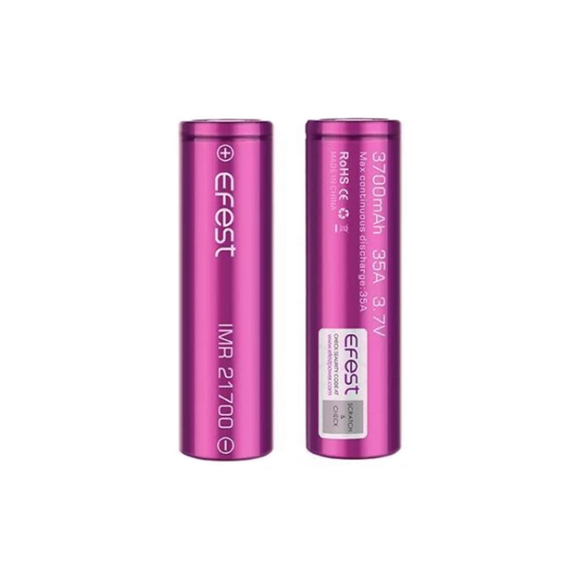 Efest IMR 21700 3700mAh 35A Flat Top Li-ion Rechargeable Battery(2pcs/pack)