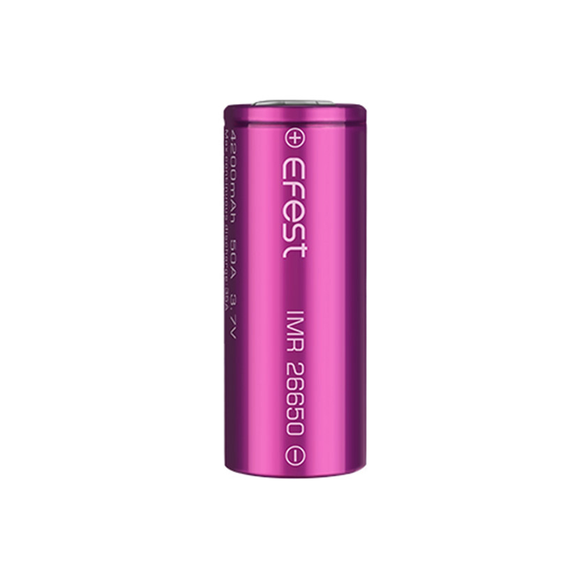 Efest IMR 26650 4200mAh 50A Flat Top Li-ion Rechargeable Battery