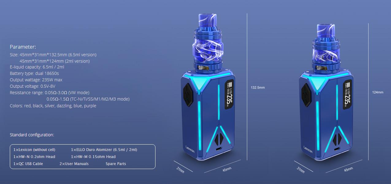 Eleaf Lexicon 235W Mod Kit