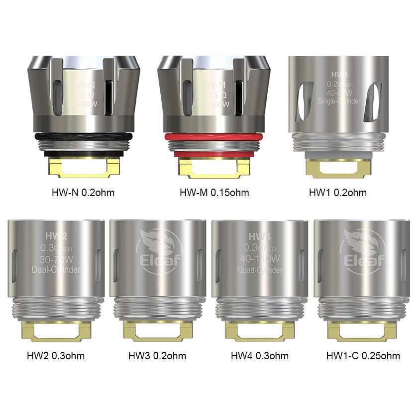 HW Series Replacement Coil Head For Eleaf Ello Mini & Ello Mini XL(5Pcs/Pack)