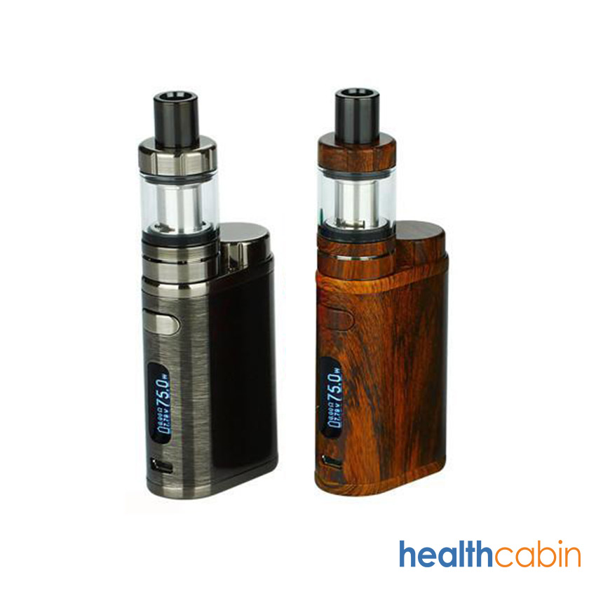 Eleaf iStick Pico 75W Mod Kit with Melo 3 Tank Atomizer Wood Grain,Brushed Black Silver