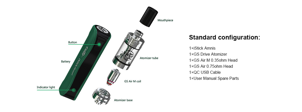 Eleaf iStick Amnis with GS Drive