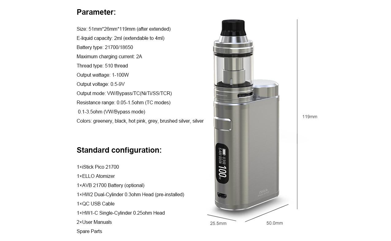 Eleaf iStick Pico 21700 100W Mod Kit
