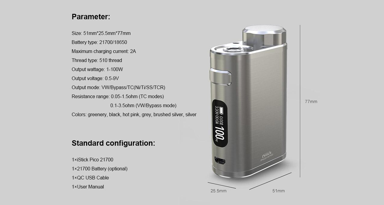 Eleaf iStick Pico 21700 100W Box Mod