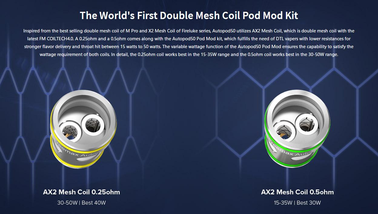 Freemax Autopod50 AX2 Mesh Coil