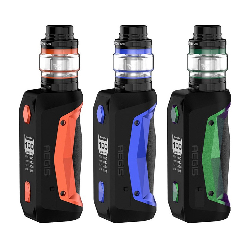Geekvape Aegis Solo 100W Box Mod Kit with Cerberus Tank Atomizer 5.5ml