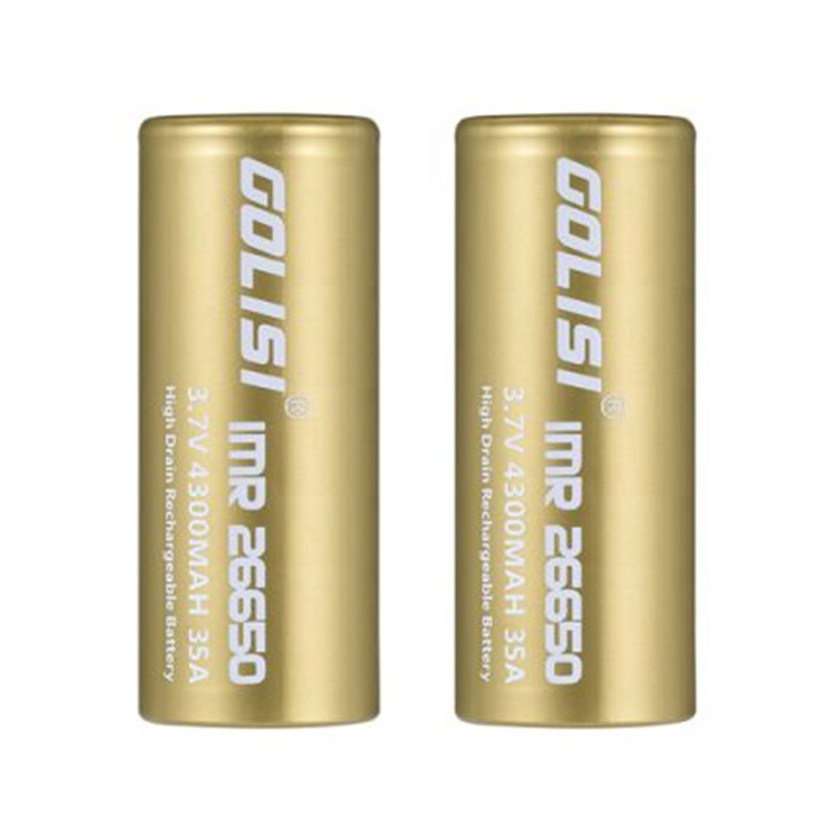 Golisi IMR 26650 4300mAh 35A Flat Top Li ion Rechargeable Battery