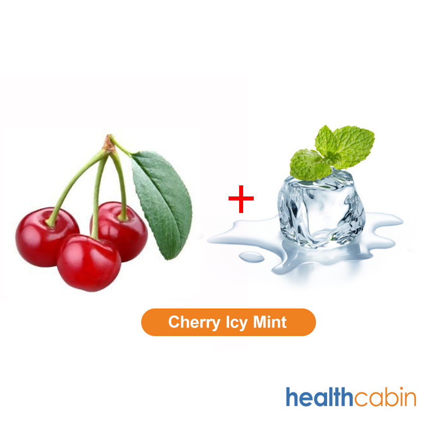 115ml HC E-Liquid Cherry Icy Mint 75PG/25VG (Flavoring Essence Doubled)