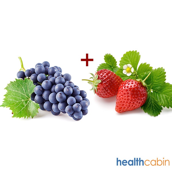 10ml HC Grape Strawberry Mix E-Liquid (40PG/60VG)