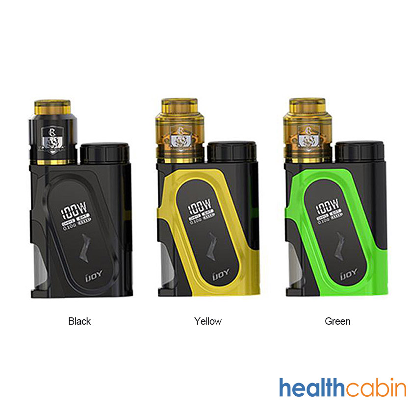 iJoy CAPO 100W Squonk Kit With 20700 Battery (3000mAh) Black,Yellow,Green