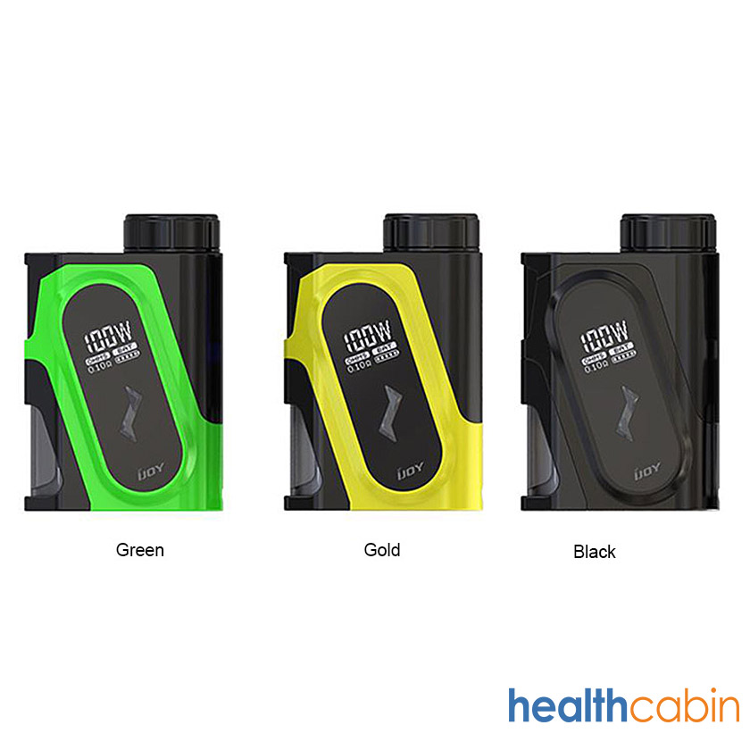 iJoy CAPO 100W Squonk Box Mod With 20700 Battery Black,Yellow,Green