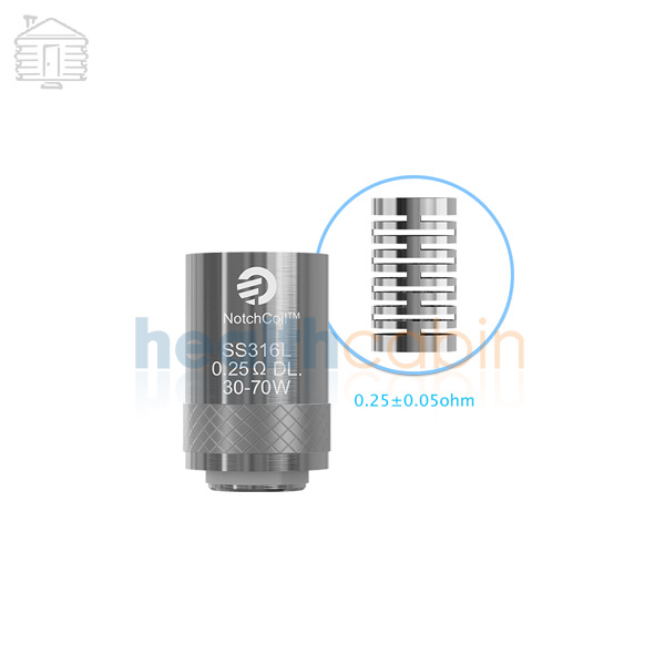 5pc NotchCoil DL head (0.25ohm) for Joyetech Cubis & Cuboid Mini Atomizer & Egrip II & Cubis Pro & eVic AIO