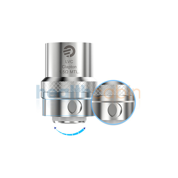 5pc Joyetech LVC Clapton Coil Head (1.5ohm) for Elitar Pipe & Ego Twist Kit & Ego Mega Twist & Cubis Pro & Cubis Pro Mini & Evic Aio & Evic VTC Dual