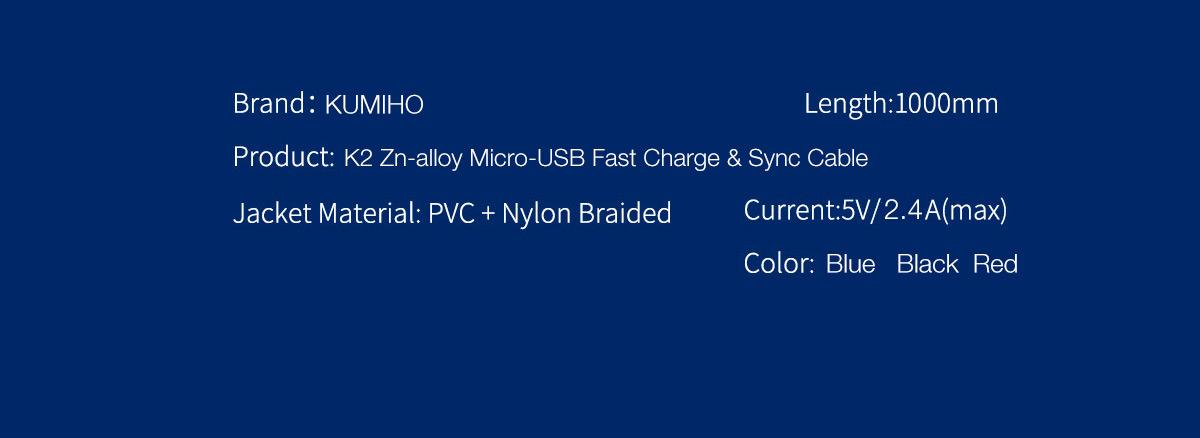 Kumiho K2 Zn-alloy Lightning Micro-USB