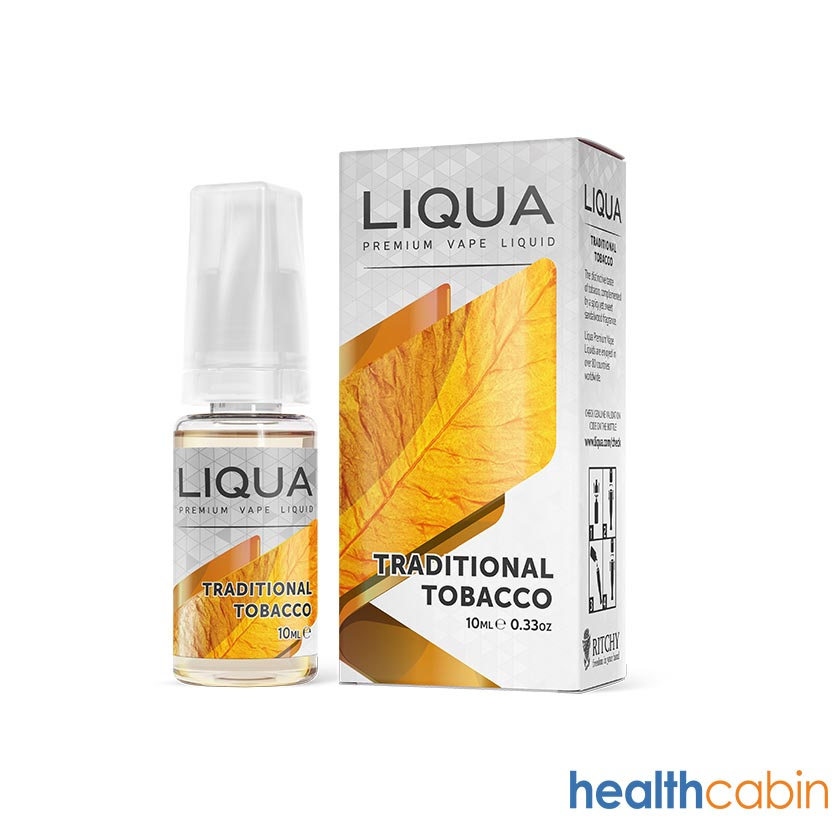 10ml NEW LIQUA Traditional Tobacco E-Liquid (50PG/50VG)