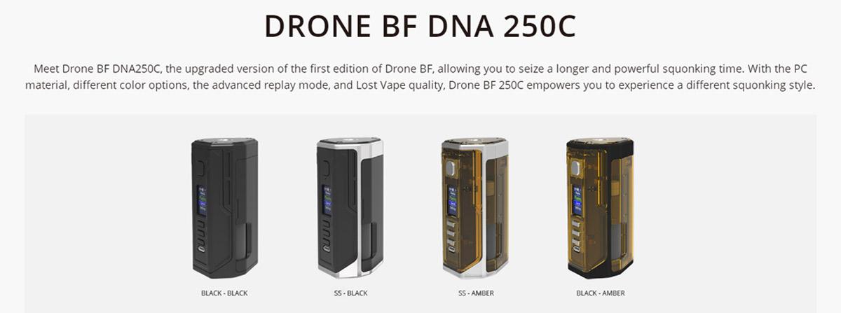 Lost Vape Drone DNA250C Mod