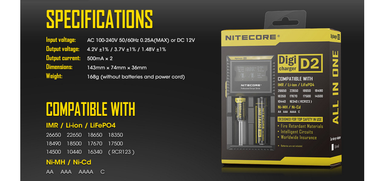 Nitecore Digicharger D2