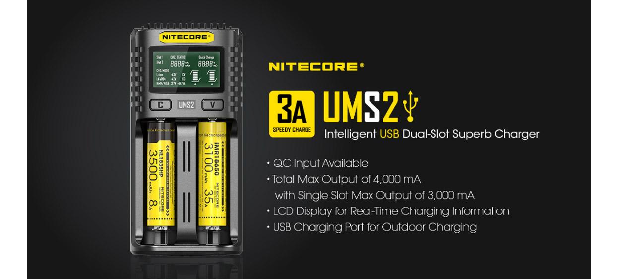 Nitecore UMS2 USB Charger