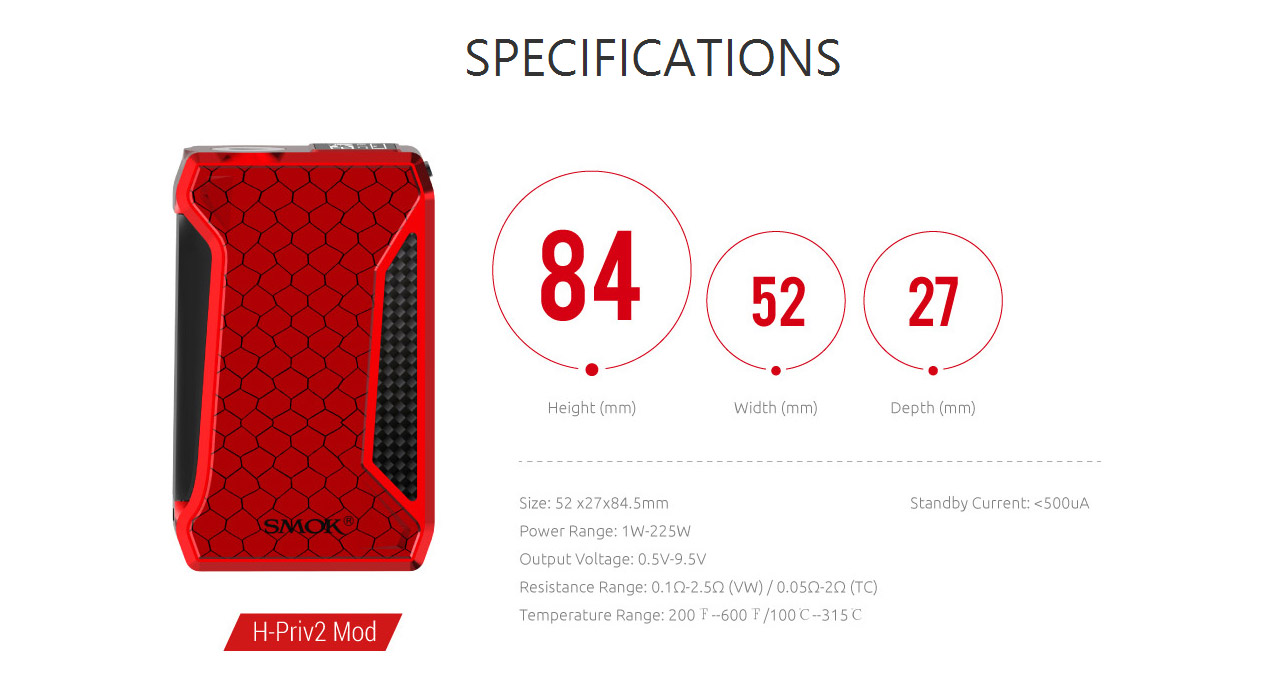 SMOK H Priv 2 225W Box Mod
