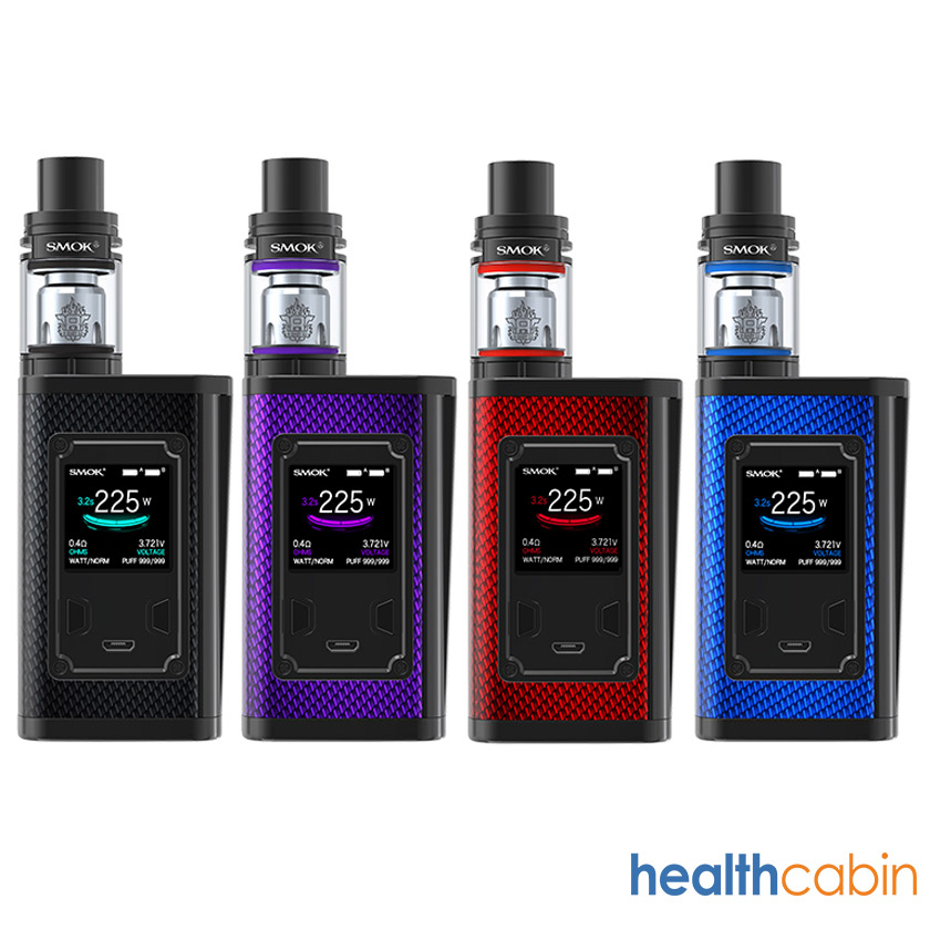 Smok Majesty 225W Mod Kit with TFV8 X-Baby Tank Carbon Fiber Standard Edition