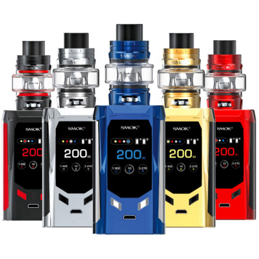 Smok R-Kiss Mod Kit 200w with TFV8 Baby V2 Tank Atomizer 5ml